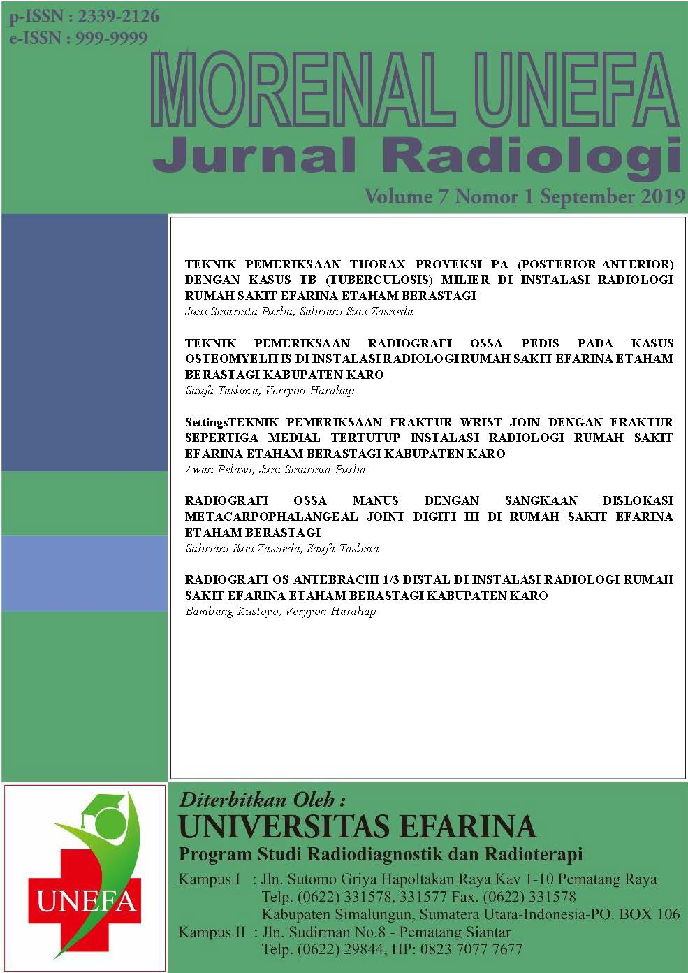 Jurnal Morenal Unefa : Jurnal Radiologi