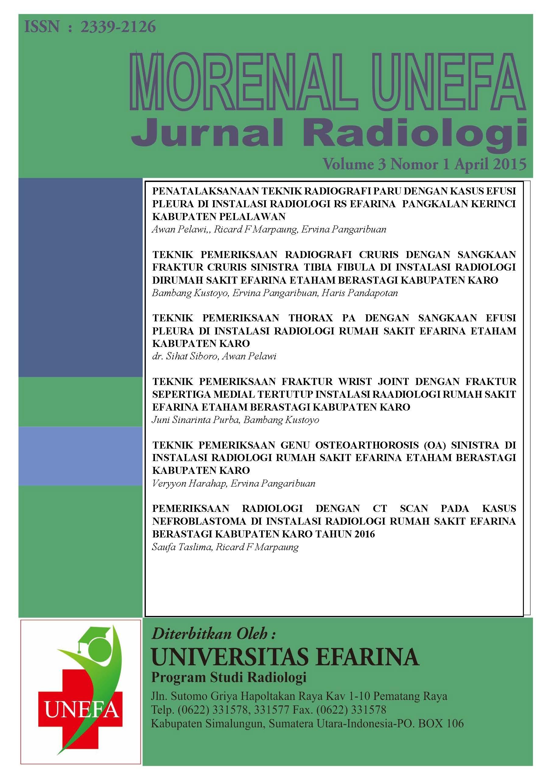 Jurnal Morenal : Jurnal Unefa