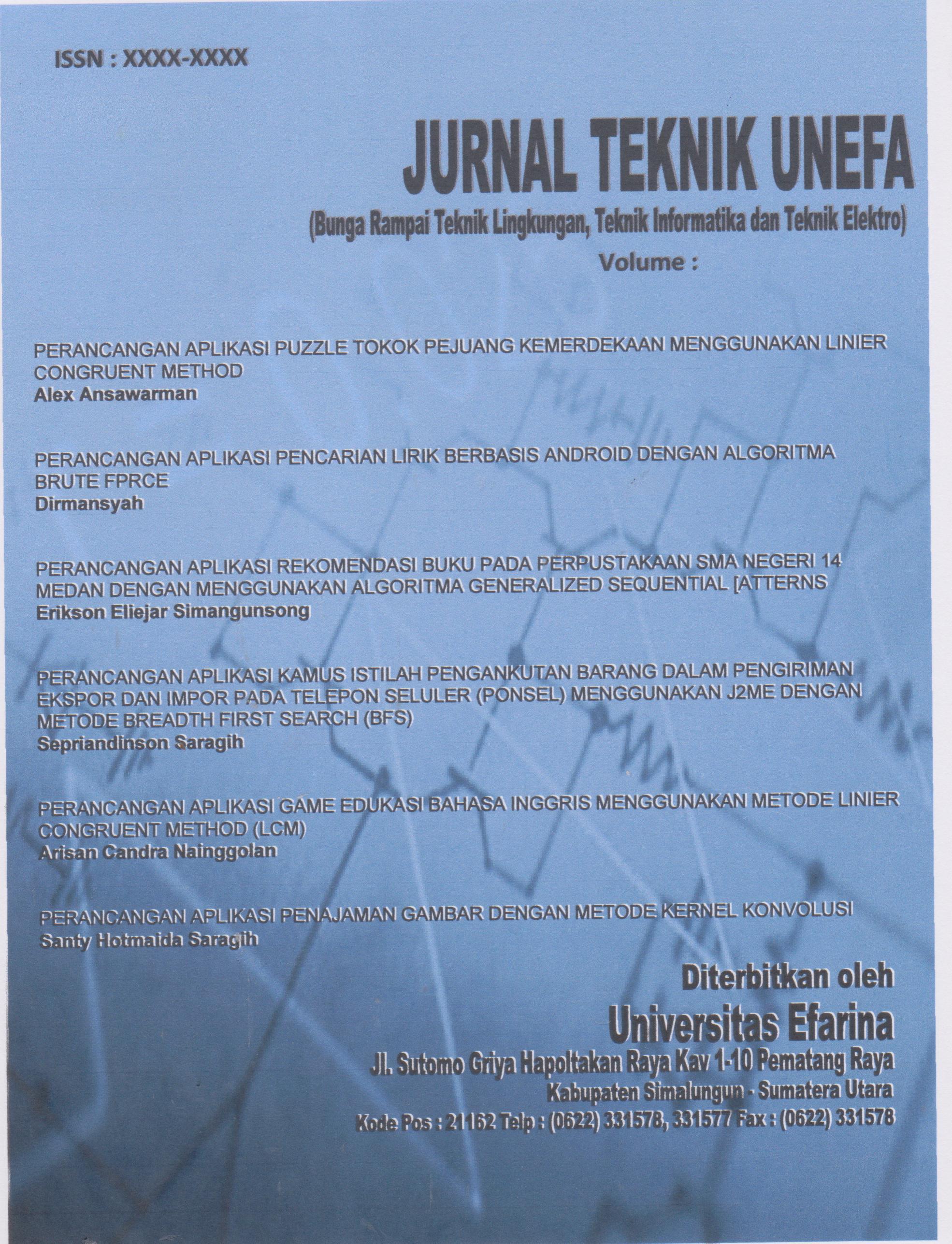 Jurnal Teknik Universitas Efarina